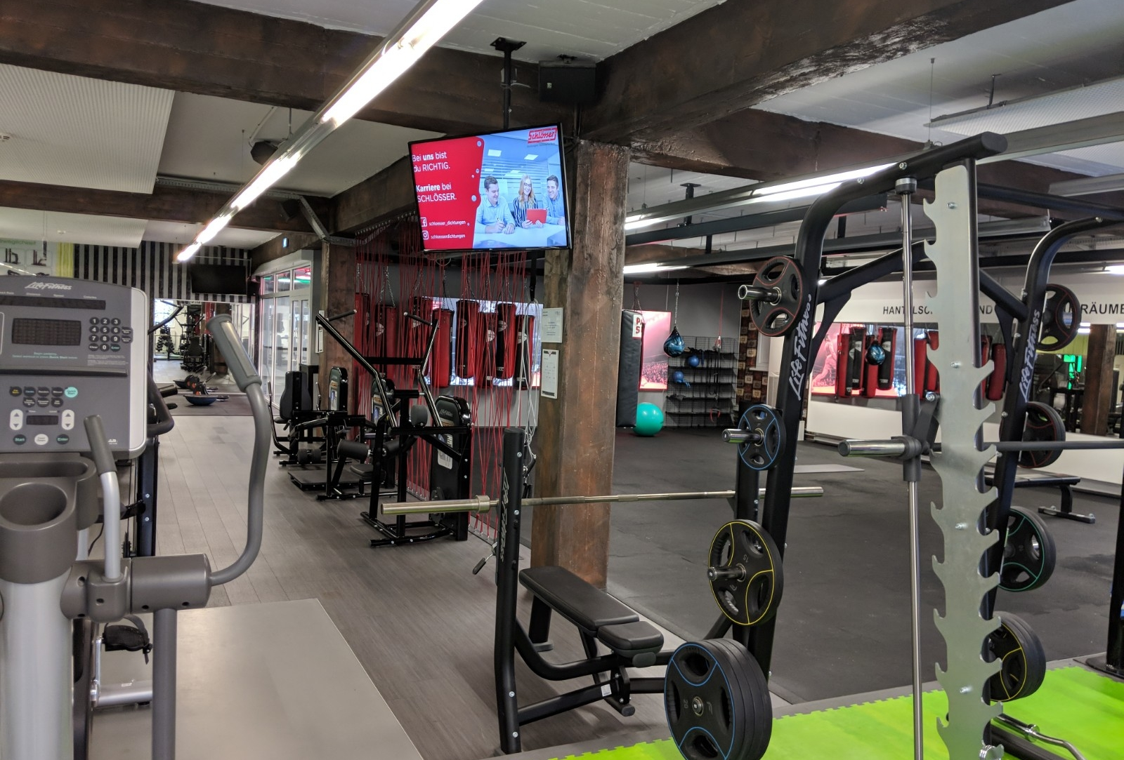 Digital Signage Fitnessstudio