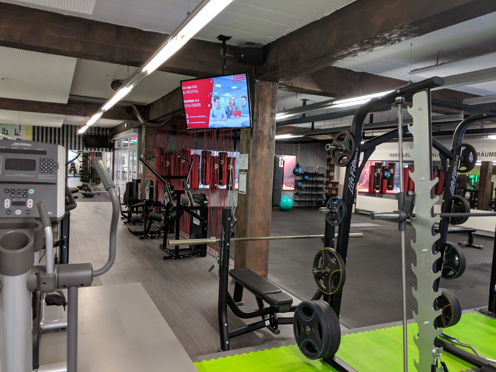 Digital Signage Fitnessstudio